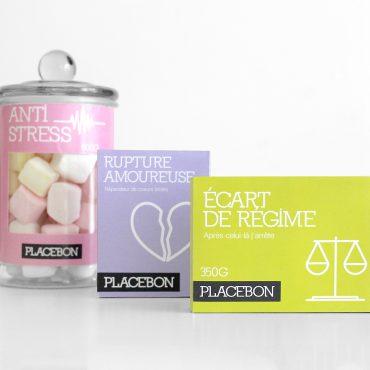 Identité et packaging Placebon Confiserie